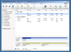 easeus partition master free adition
