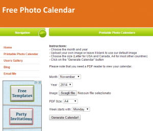 come creare un calendario online