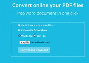 convertire pdf in doc