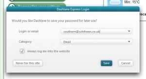 creare password