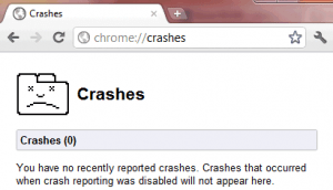 errori chrome