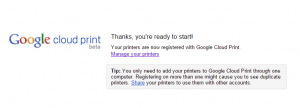 google cloud print online