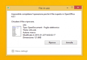 come eliminare file bloccati