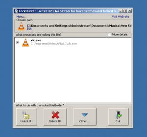 eliminare i file bloccati