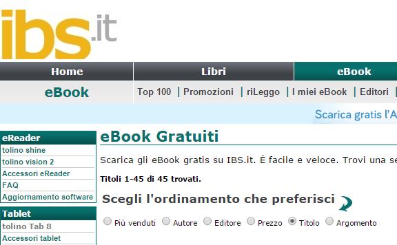 ereader porno xxx italiano gratis