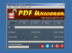 rimuovere password file pdf