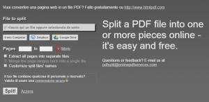 tagliare pdf