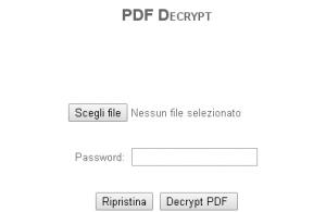 togliere protezione file pdf
