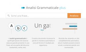siti per analisi grammaticale