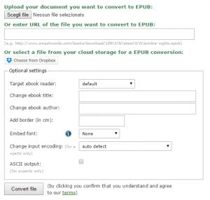 convertire pdf in epub online