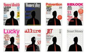 fotomontaggi con copertine di riviste