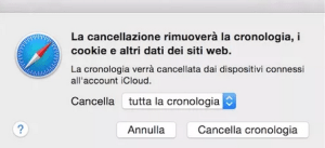 come cancellare cronologia safari