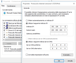 windows 10 configurazione router