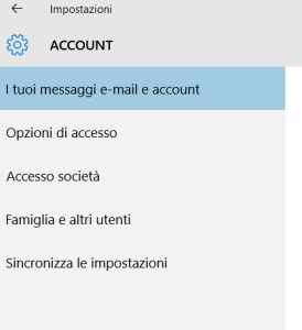 password di windows 10