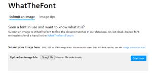 come riconoscere un font